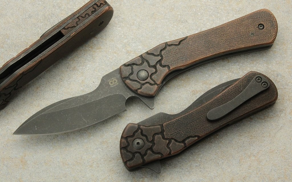 Olamic Cutlery Gambit Carved Copper