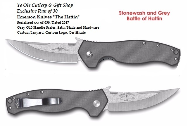 Emerson Hattin SF with Grey Handles Exclusive Limited Run 1/30