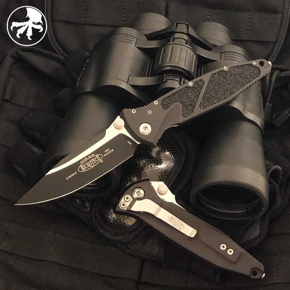 Microtech Socom Elite S/E with Two Tone Black Blade
