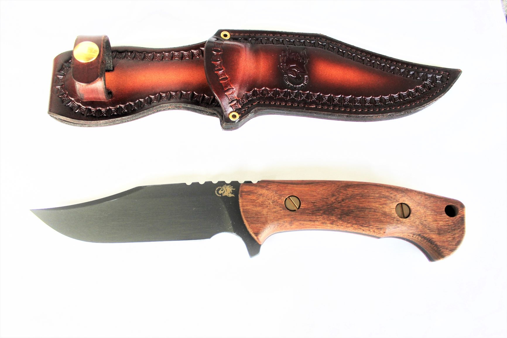 Rick Hinderer Bowie Fixed Blade Vintage Series Walnut