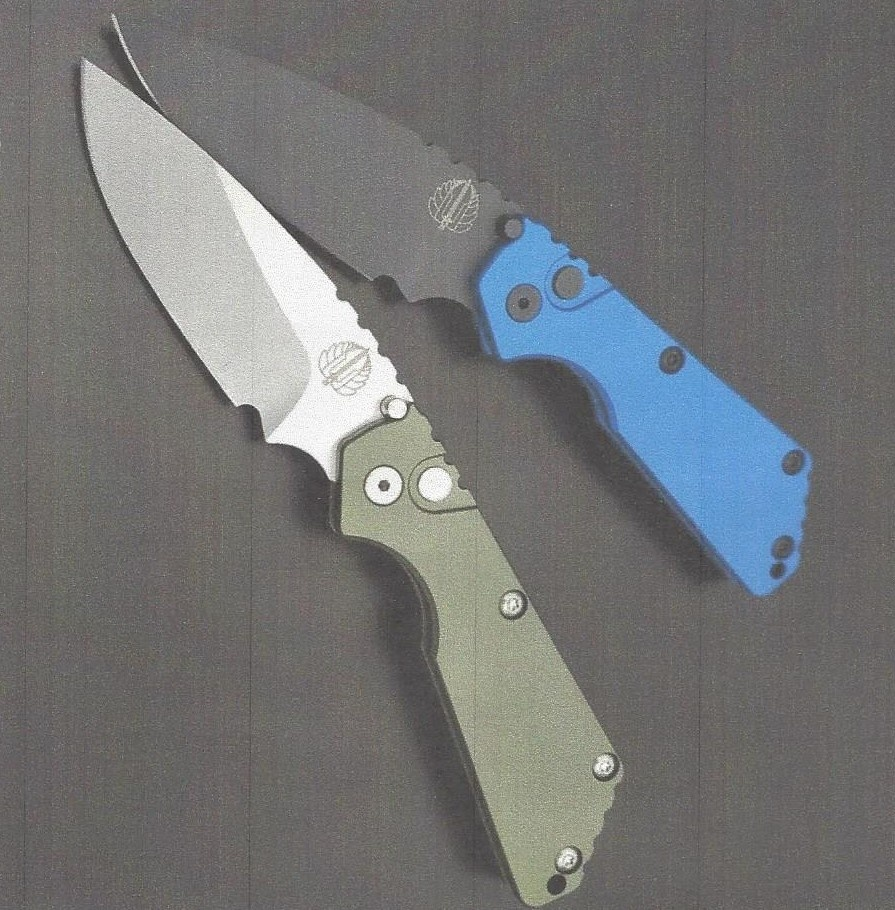 Protech Strider SNG Auto with Blue Aluminum Handles/ Black DLC Blade