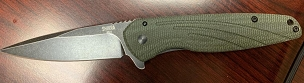 OKC SHIKRA FOLDER 3.2 IN MICARTA TITANIUM HANDLE GREEN